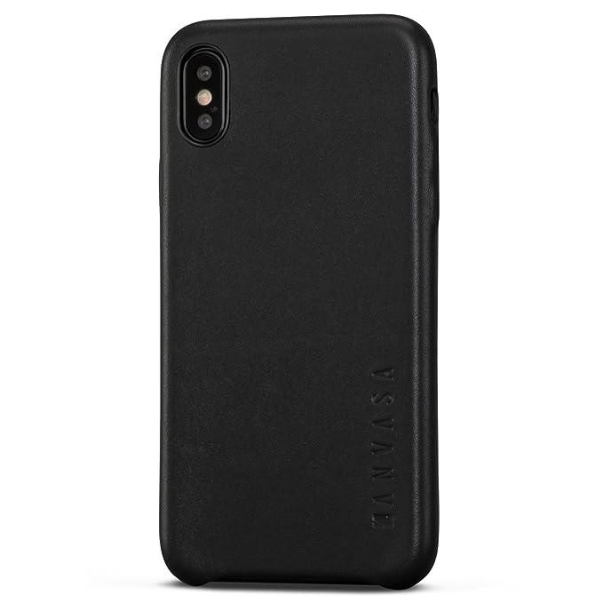 sale retailer dadfa d1215 iPhone X Leather Case Black - KANVASA