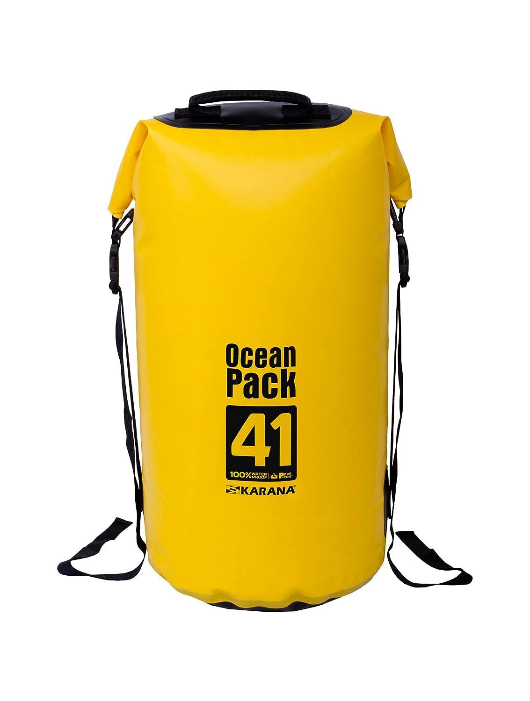 Karana Ocean Pack防水ドライバッグ41リットル( 112144741 )、イエロー1個。   B01F2BYHKU