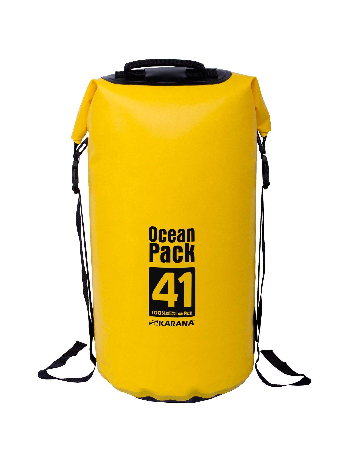 KARANA Ocean Pack Waterproof Dry Bag 41 Litres (112144741), Yellow Color 1 pcs.