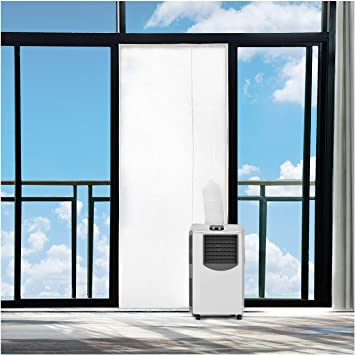 Rhodesy Aislamiento de Puerta para Aire Acondicionado, Kit de Sellado de Puerta de Aire Acondicionado portátil, Deflector de Sellado de Tela Puerta Para Unidades de Aire Acondicionado Móviles: Amazon.es: Hogar
