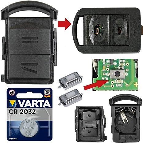 Repair Reparatur Satz Auto Schlüssel Austausch Gehäuse Mit 2 Tasten Drucktasten Cr2032 Batterie Kompatibel Für Opel