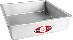 Fat Daddio's PSQ-12123 Anodized Aluminum Square Cake Pan, 12 x 3 Inch
