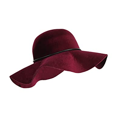 73dd9255063 100% Velvet Felt Large Floppy Hat Vintage Bowler Light-Weight Fall Winter  Fedora with