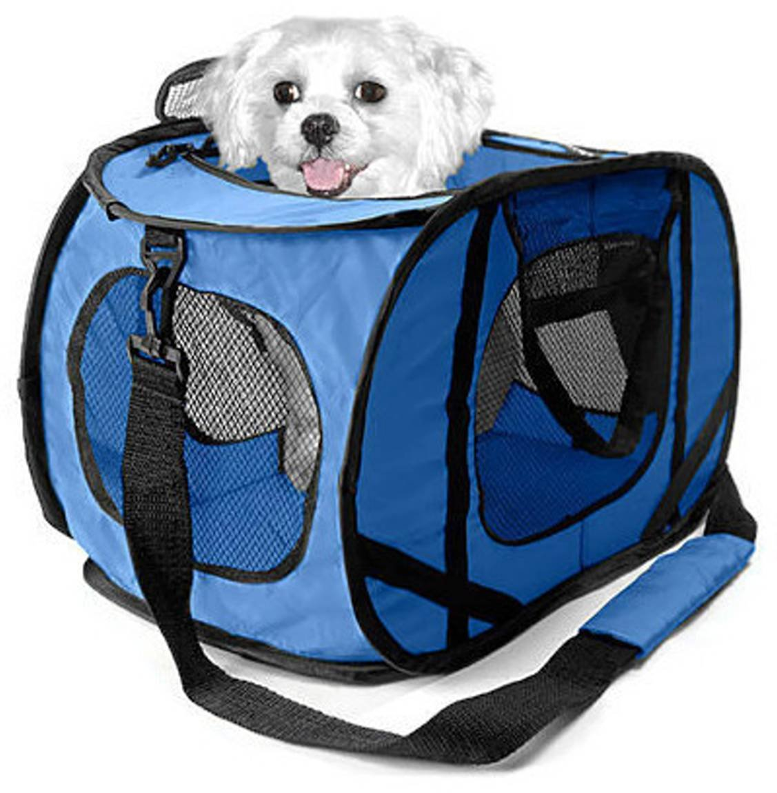 Sport Pet Pop Open Pet Carrier for up to 20 Pound Pet- Blue Sportpet Designs