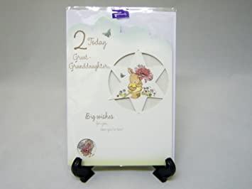 Hallmark Great Granddaughter 2nd Birthday Card