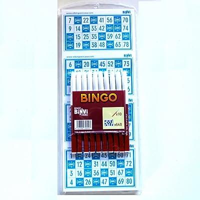 640 Cartones Bingo BINVI + 10 rotuladores: Juguetes y juegos