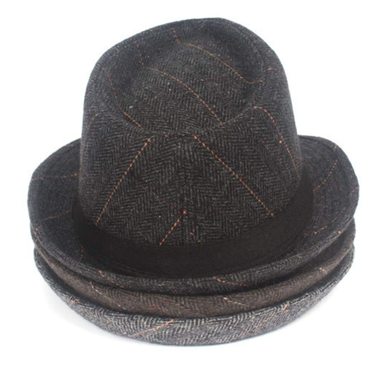Fedora Hats Summer Casquette Black Grey Tweed Flat Cap Mens Gatsby Hat Snapback Gorra Hombre at Amazon Mens Clothing store: