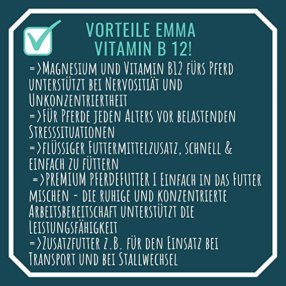 EMMA Magnesio Vitamina B12 para Caballos - alimento para ...