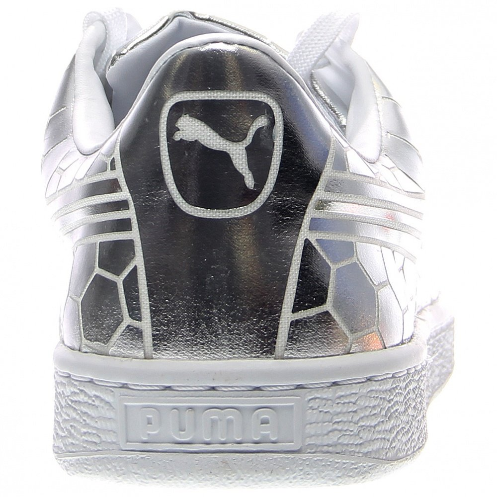 PUMA Men's Basket Classic Metallic Fashion Sneaker, Silver, 9.5 M US by PUMA (Image #3)