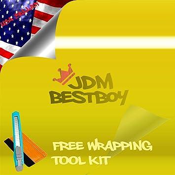 Amazon com: Free Tool Kit High Gloss Candy Yellow Vinyl Wrap