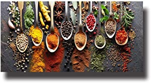 YUANOMWJ Canvas Print Painting,Delicious Modern Spices Food Art,Canvas Painting Wall Art Posters Prints No Frame Pictures Living Room Home Decoration,20X40Cm(8X16Inch)