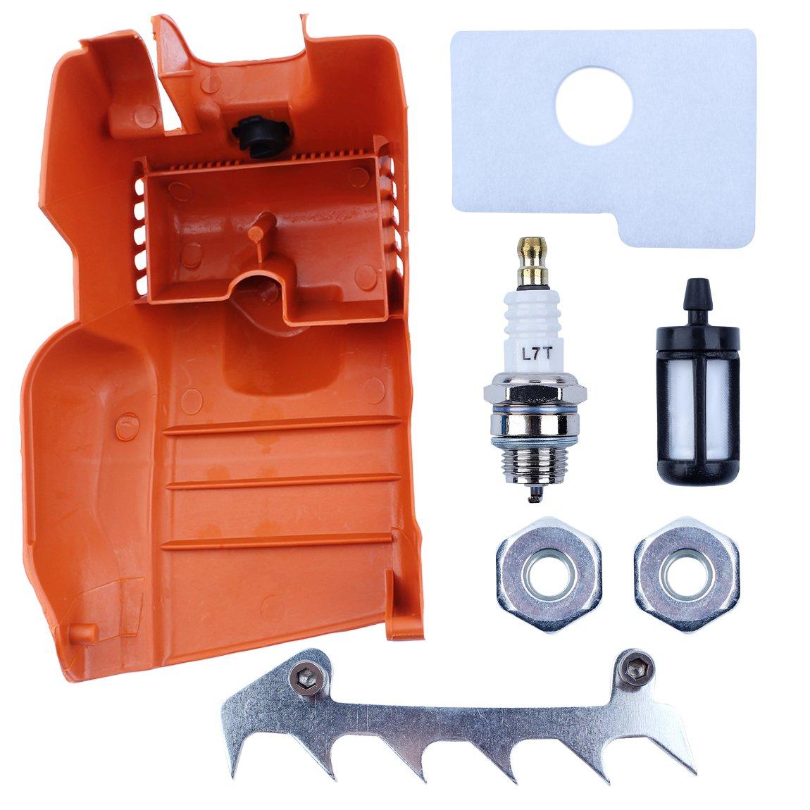 Haishine Cubierta Superior del Filtro de Aire del Cilindro de la Cubierta del Motor de para STIHL 018 MS180 MS 170 180 recambios de la Motosierra del reemplazo