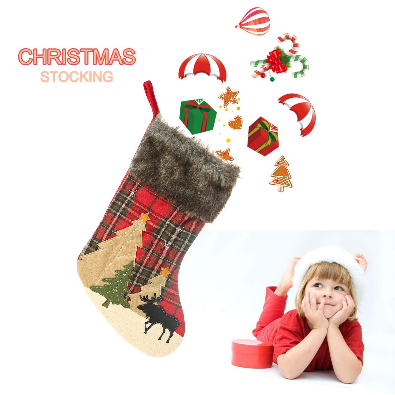 Nikolaus-Strumpf Weihnachtsdeko Weihnachsstrumpf H/ängende Str/ümpfe Leeko Nikolausstiefel