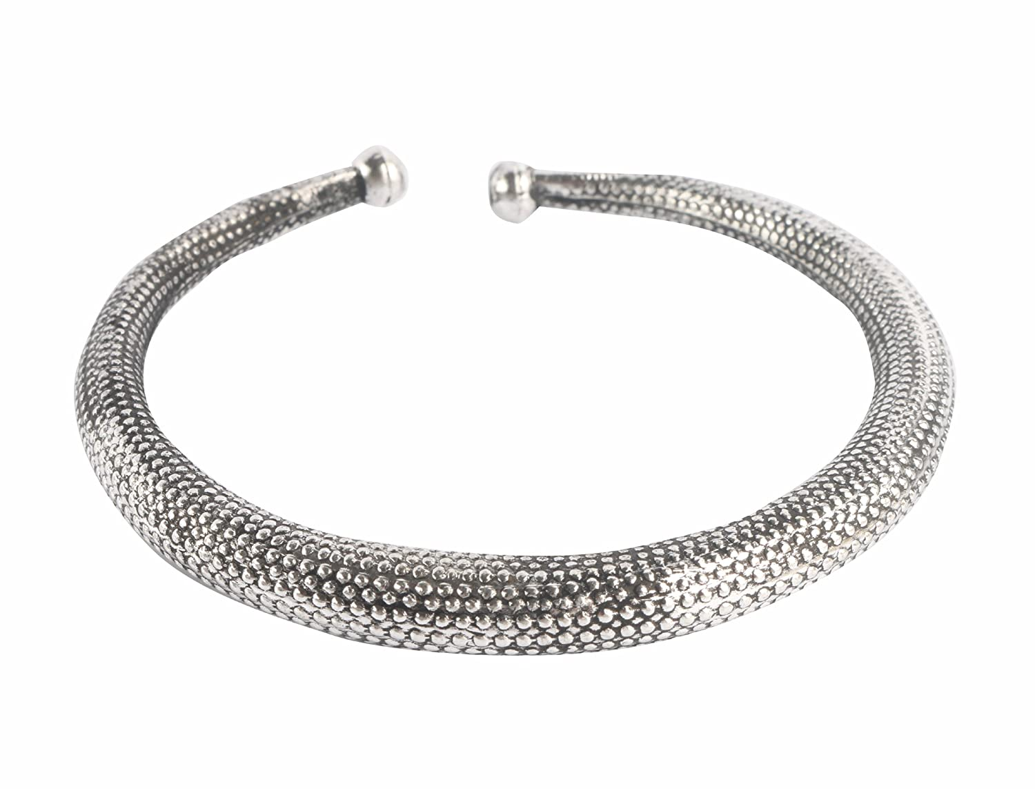Sansar India Engraved Kada Beach Wear Indian Anklet Jewelry for Girls and Women 570A