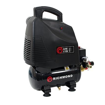 6L Compresor de aire 5.7 CFM, 1.5 HP, 1.1 KW, 230V, 115