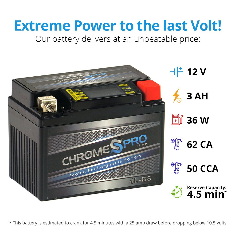 Wiring Batteries In A Series And Parallel Chrome Battery Amazon Com Rechargeable Ytx4l Bs Igel Motorcycle Heavy