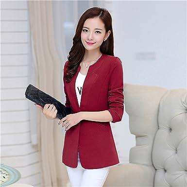 Toping Fine Autumn Women Blazer Coat Elegant Suit Jacket Outwear Long Jackets Coat 5XL Tops BlackSmall