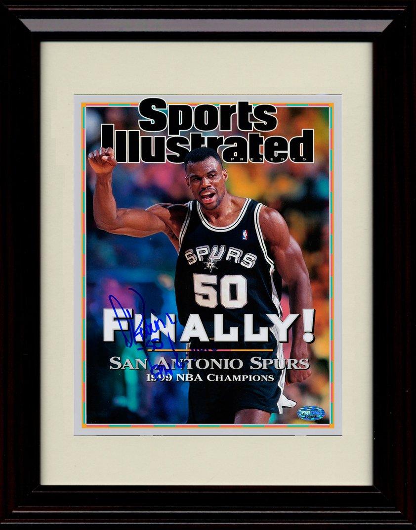 Framed David Robinson Spurs Champions Sports Illustrated Autograph Replica Print - 1999 San Antonio Champs!