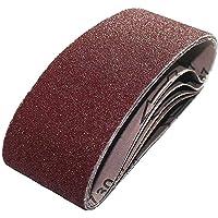 Förpackning med 25 tygsandbälten 100 x 610 mm för bältesslipare 40/60/80/120/180 korn