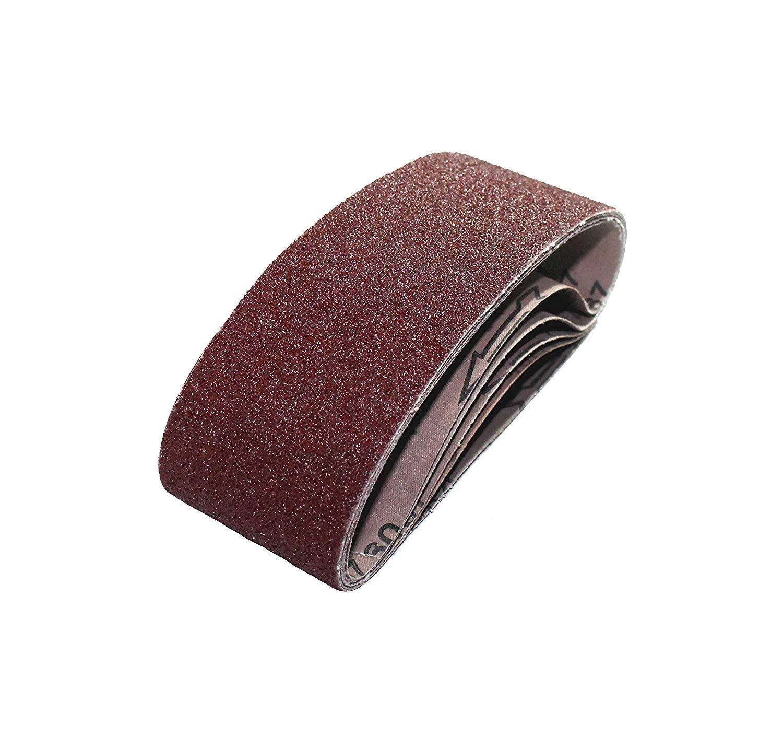 Lot de 25 bandes abrasives en tissu 100 x 610 mm pour ponceuse à bande - Grain 40/60/80/120/180 - Grain 40/60/80/120/180 - Grain papier abrasif - Mix/bandes abrasives