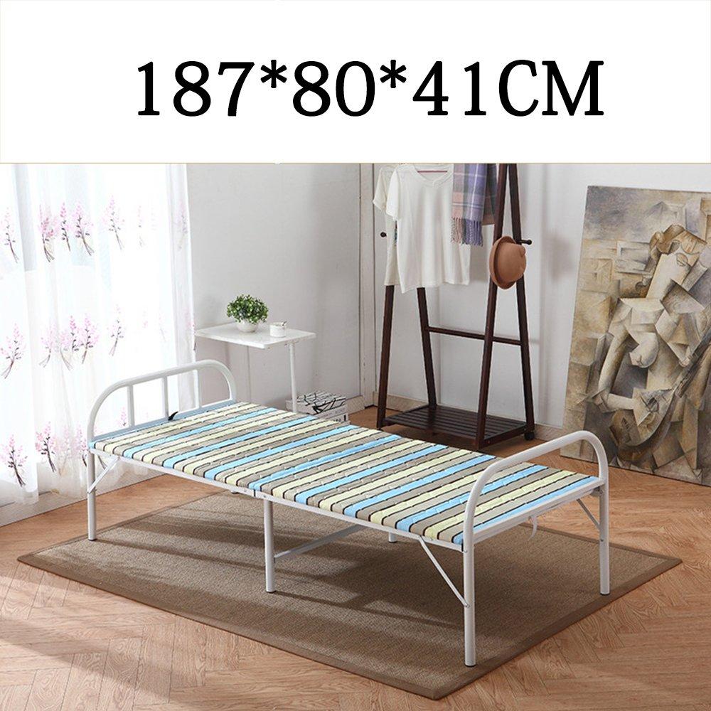 Home & Style Streifen Campingbett Feldbett max. statische Belastung 250 kg 187 x 80 x 41 cm