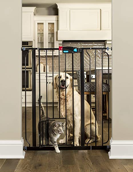 Extra Wide 58 Inch Walk Through Safety Locking Child Proof Dog Pet Gate White