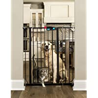 Carlson Extra Tall Walk Through Pet Gate with Small Pet Door, Includes 4-Inch Extension Kit, 4…