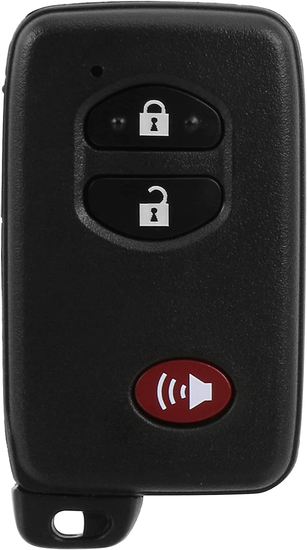 HYQ14ACX VOFONO 2+1 Buttons Keyless Entry Remote Key Fob Fits for Toyota Prius 2009-2018//Toyota 4 Runner 2010-2019//Toyota Prius V 2012-2017//Toyota Venza 2009-2016 FCC ID 314.3Hz