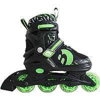 Best Sporting Inline Skates, Größe verstellbar mit ABEC 7 Carbon-Kugellager, Inliner für Kinder, Jugendliche und Erwachsene bis Größe 41 in den Farben grün oder pink