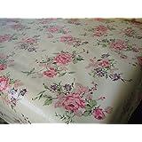 Shabby Rose PVC Wipe Clean Table cloth by Karina Home 200cm x 137cm