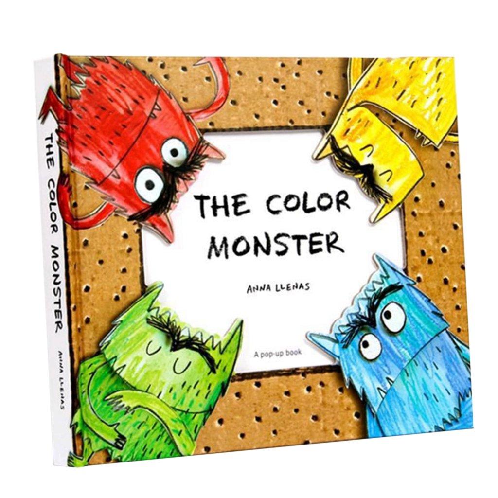 fityleハードカバーPop Up Book、カラフルな図面動物認知( Babies Kids Love ) – Monster   B07CP3H7YH