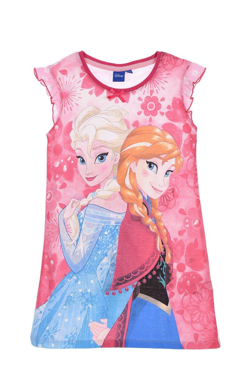 Disney Frozen Official Girls Short Sleeve Nightie Nightdress 100% Cotton 2-8 Years - New 2018
