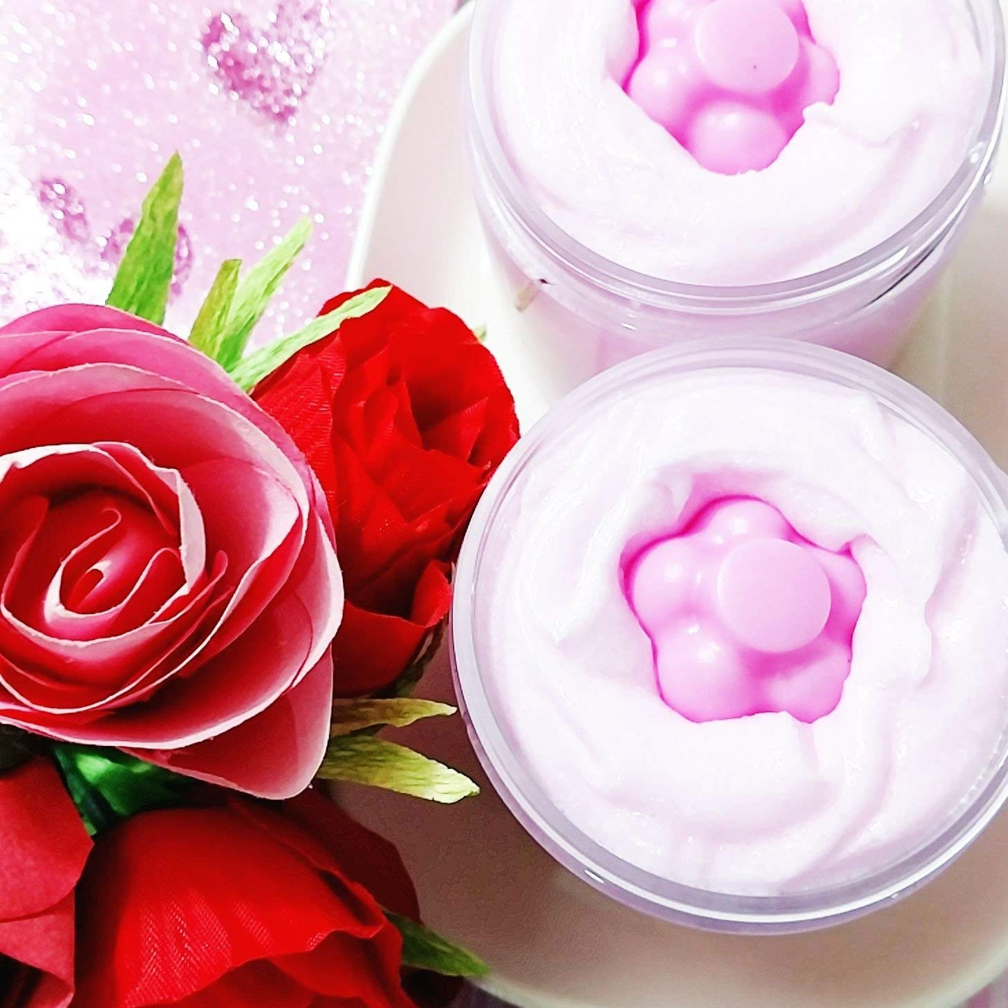Romantic Rose Exfoliating Sugar Scrub Soap Birthday Gifts For Women Bridesmaid Proposal