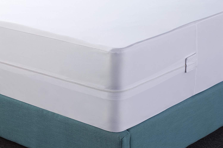 Utopia Bedding Funda de colchón Impermeable con Cremallera - Altura del colchón 25-35 cm - Protección contra líquidos, Insectos y ácaros del Polvo (90 x 190 ...