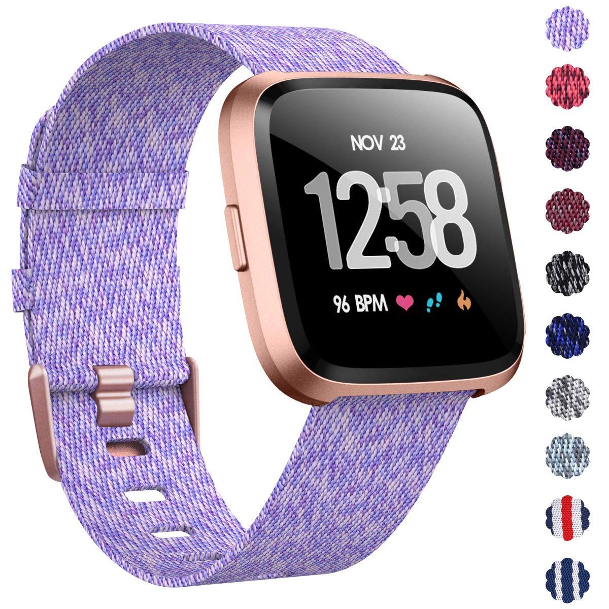 Malla Reloj Fitbit Versa/fitbit Versa 2 (violeta claro Gold)