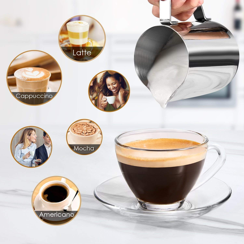 B Aicook - Cafetera de 8 bar, cafetera americana, mini cafetera ...
