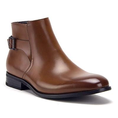 Jazame Men's McVey Distressed Moto Riding Ankle Bootie Chelsea Dress Boots   Boots
