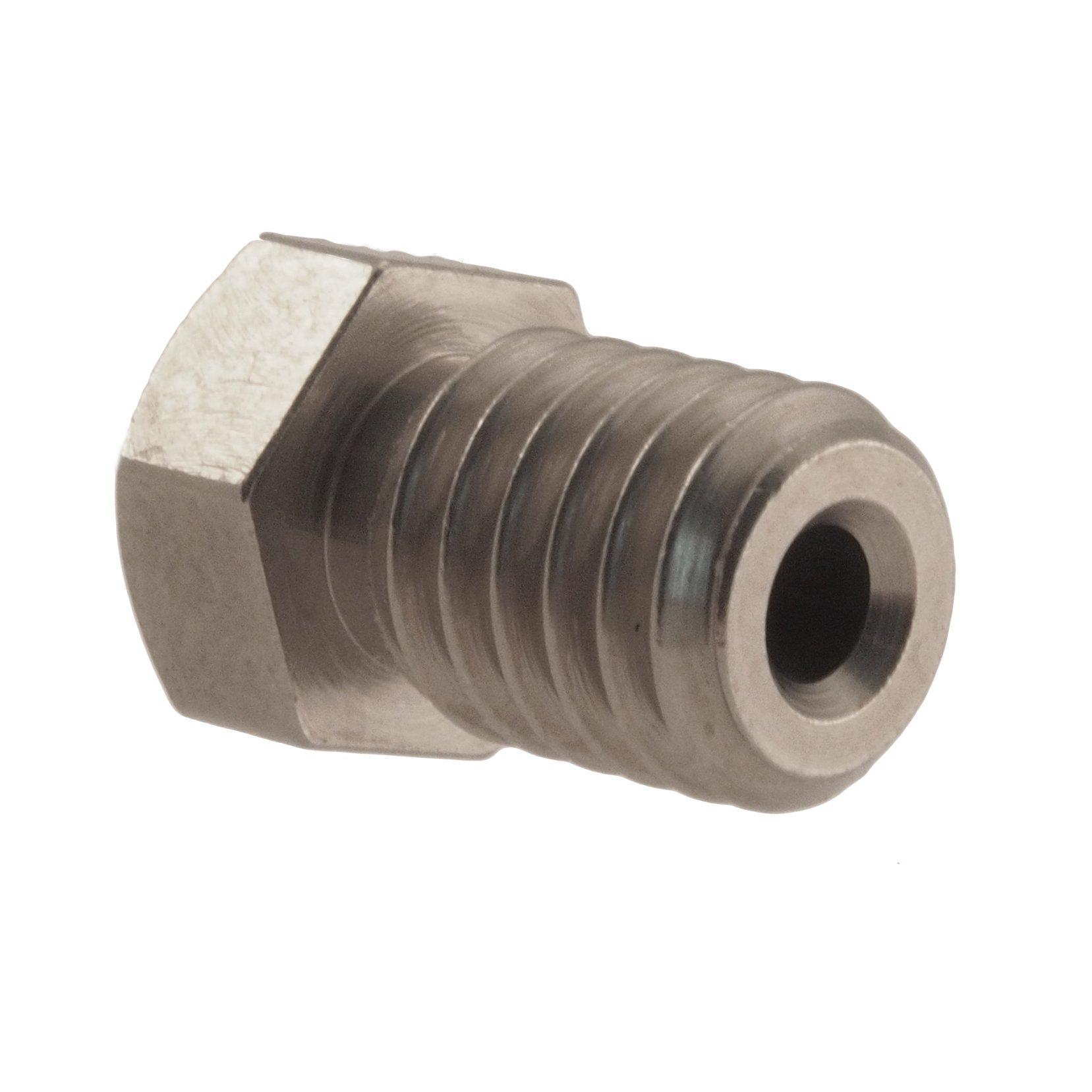 RepRap M6 0.4 mm Micro-Swiss HW-NOZ-MODMK8-04 Plated Brass Wear Resistant Nozzles E3D//Hexagon Bright Nickel 1.75 mm