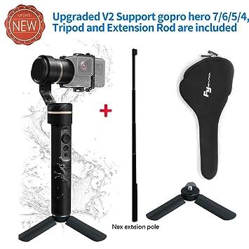 Feiyu G5 3 ejes cardán (bolsillo acción Estabilizador para GoPro Hero5 Hero4 Hero3 para Yi