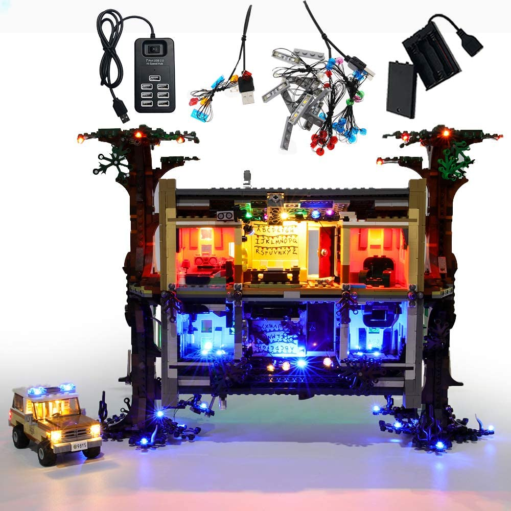 GEAMENT Upgraded Version Light Kit for Stranger Things The Upside Down - Compatible with Lego 75810 Building Blocks Model (Lego Set Not Included) (with Instruction)