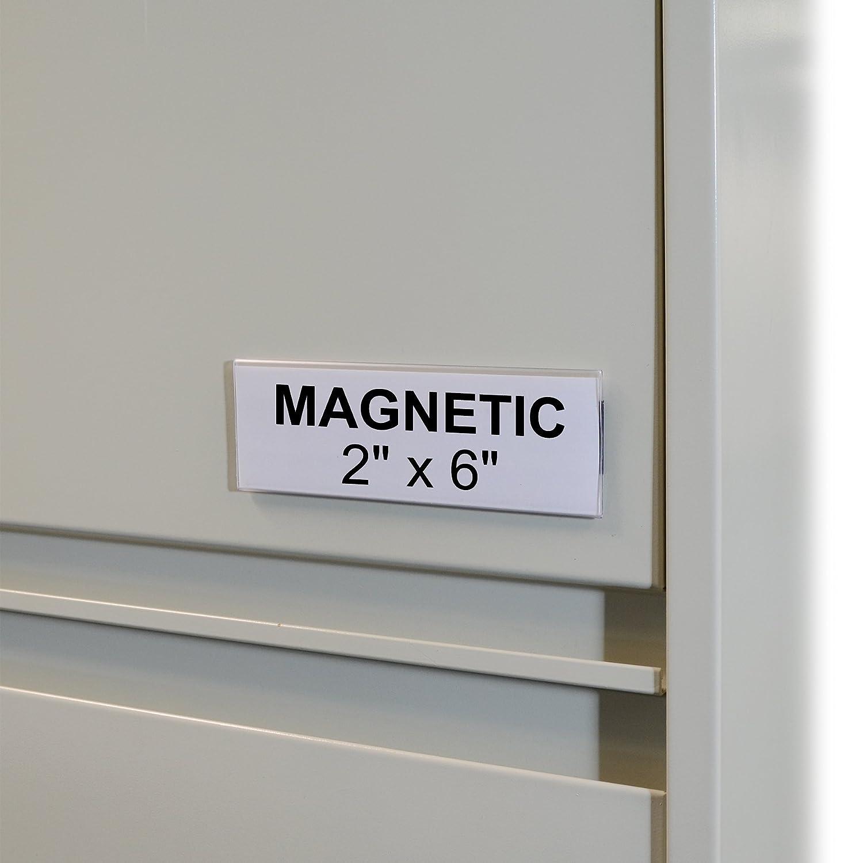 87227 C-Line HOL-DEX Magnetic Shelf//Bin Label Holders 10 per Box 1 x 6 Inches