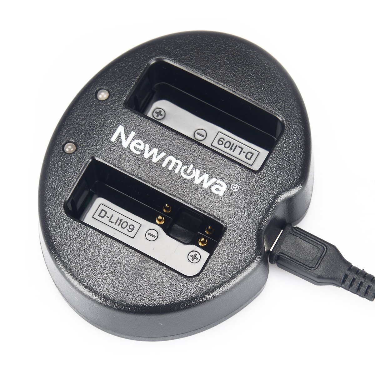 Newmowa Dual USB Charger for Pentax D-Li109 and Pentax K-R K-30 K-50 K-500 K-S1 K-S2