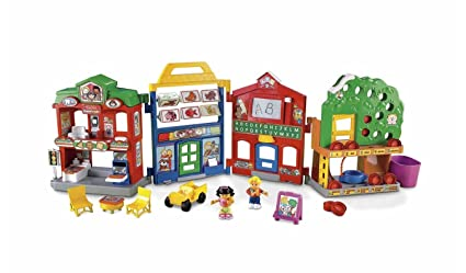 amazon com fisher price world of little people learn about town