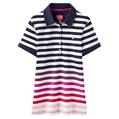 37e9a5f49dd Joules Womens Pippa Printed Polo Shirt at Amazon Women s Clothing store