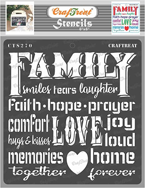 Live Love Laugh Painting on Wood Canvas Scrapbooking Fabric Reusable Stencils Templates Home Decor Quotes for Crafting Wall Furniture DIY Crafts- A4 Card Making CrafTreat Stencil
