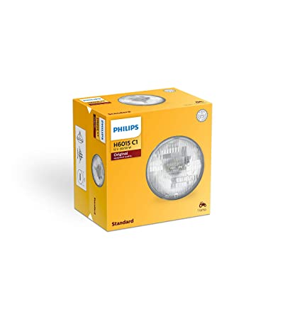 Amazon.com: Philips H6015C1 Standard Halogen Sealed Beam headlamp, 1 Pack: Automotive