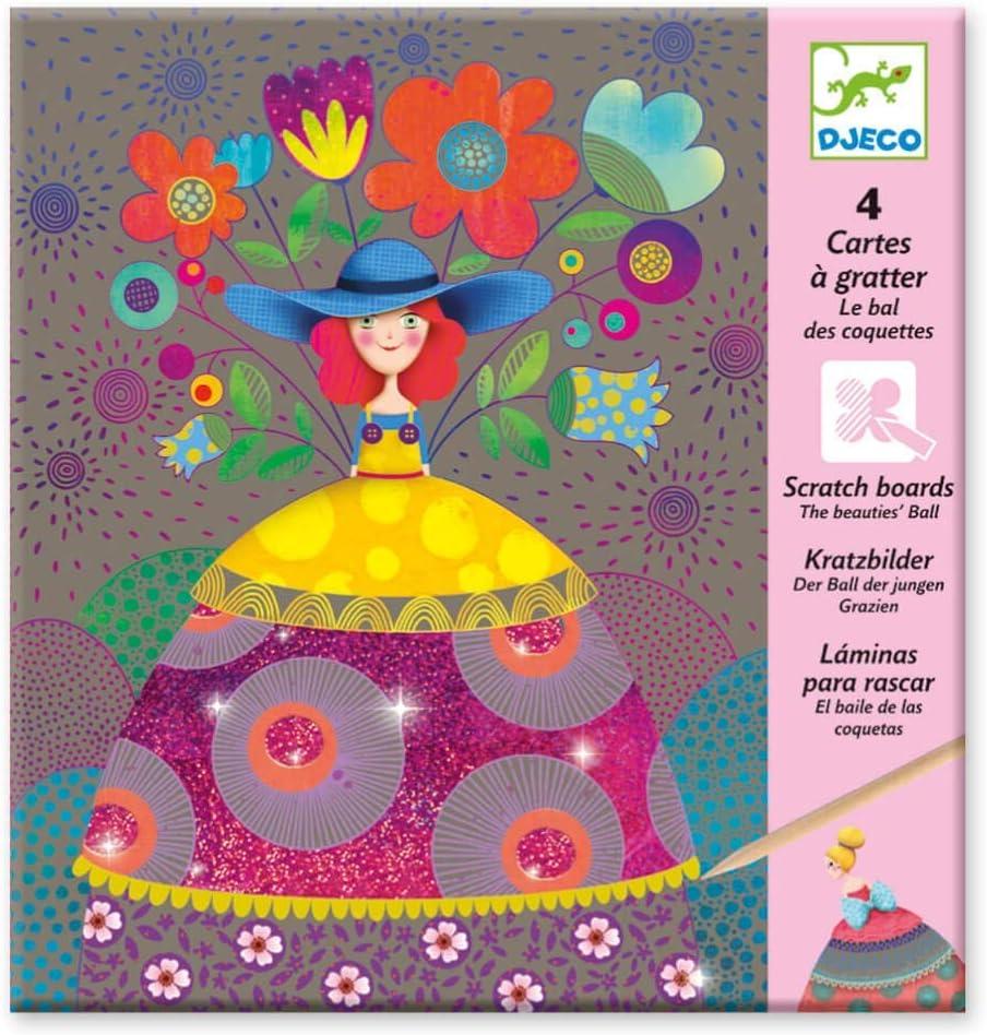 Djeco DJ09725, Tarjetas de rascar, multicolore