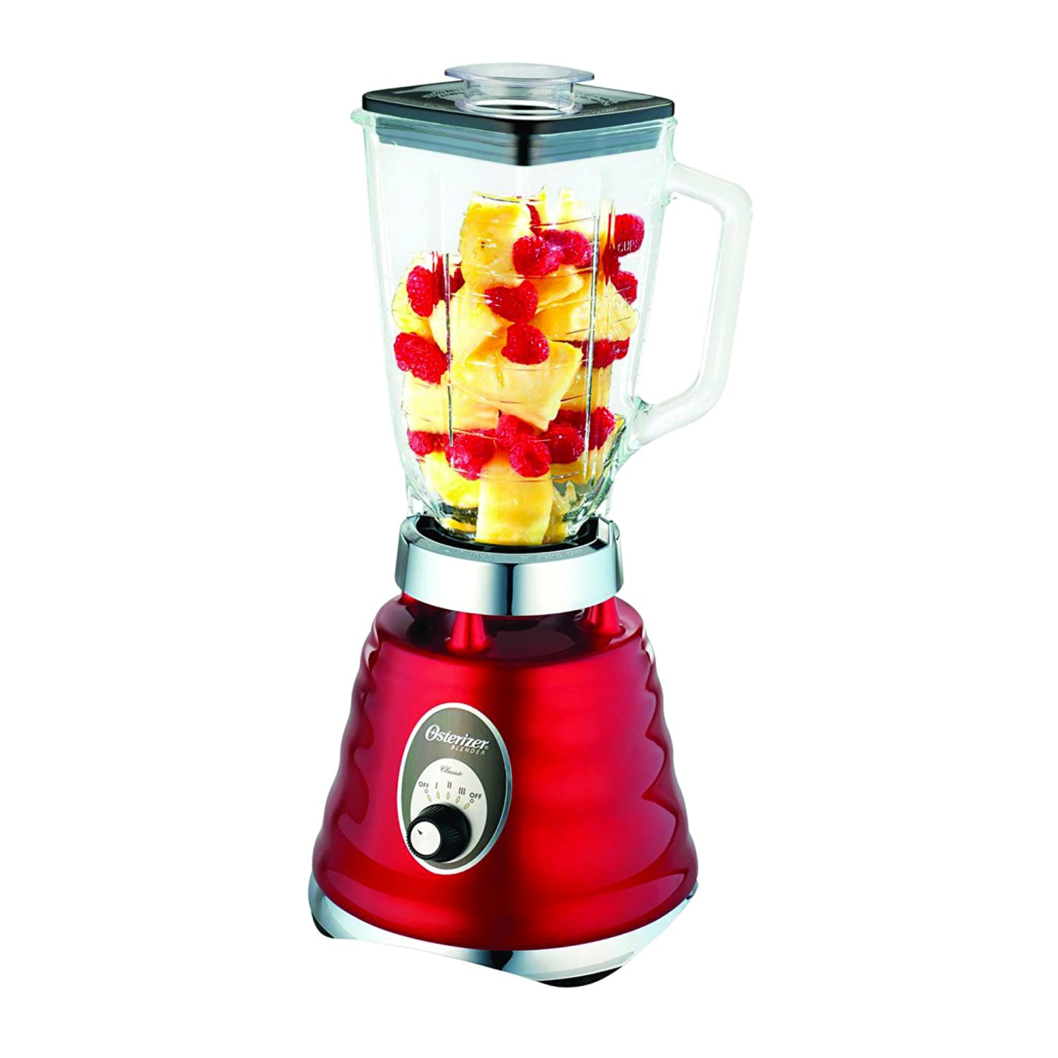 Oster 4126 3-Speed Chrome Retro Blender with 5-Cup Glass Jar, 220-volt (Not for USA - European Cord)