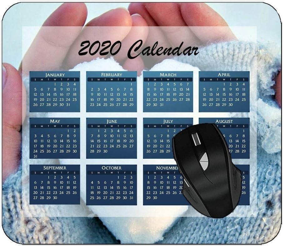 Printed Mousepad 2020 Calendar Mouse Pad Earth Mountain Computer Desk Mat