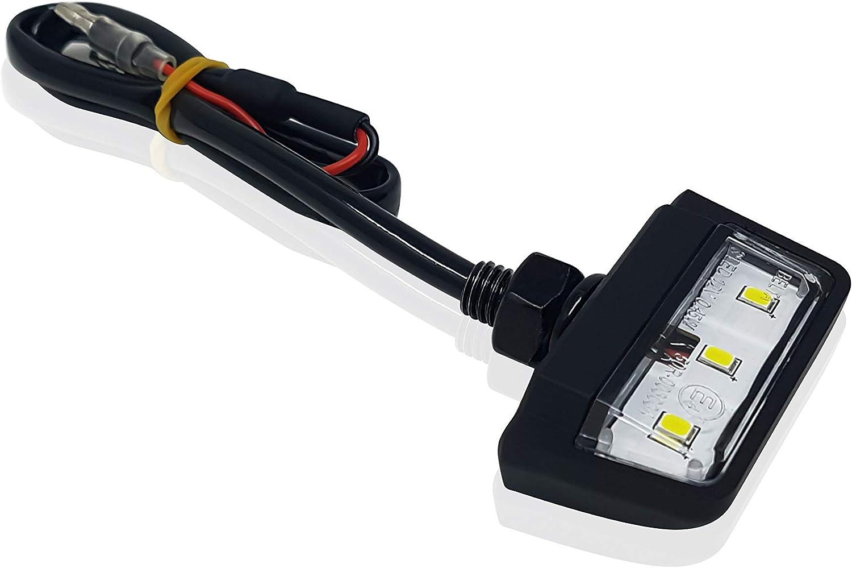 /étanche IP67 Mini Noir ATV voiture E Applique de plaque dimmatriculation LED universelle pour moto Quad scooter